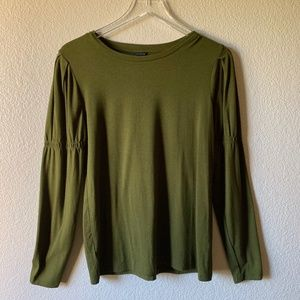Ann Taylor Olive Long Sleeve